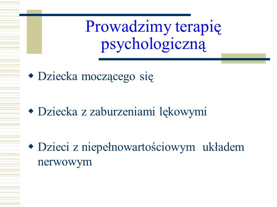 Prowadzimy terapię psychologiczną