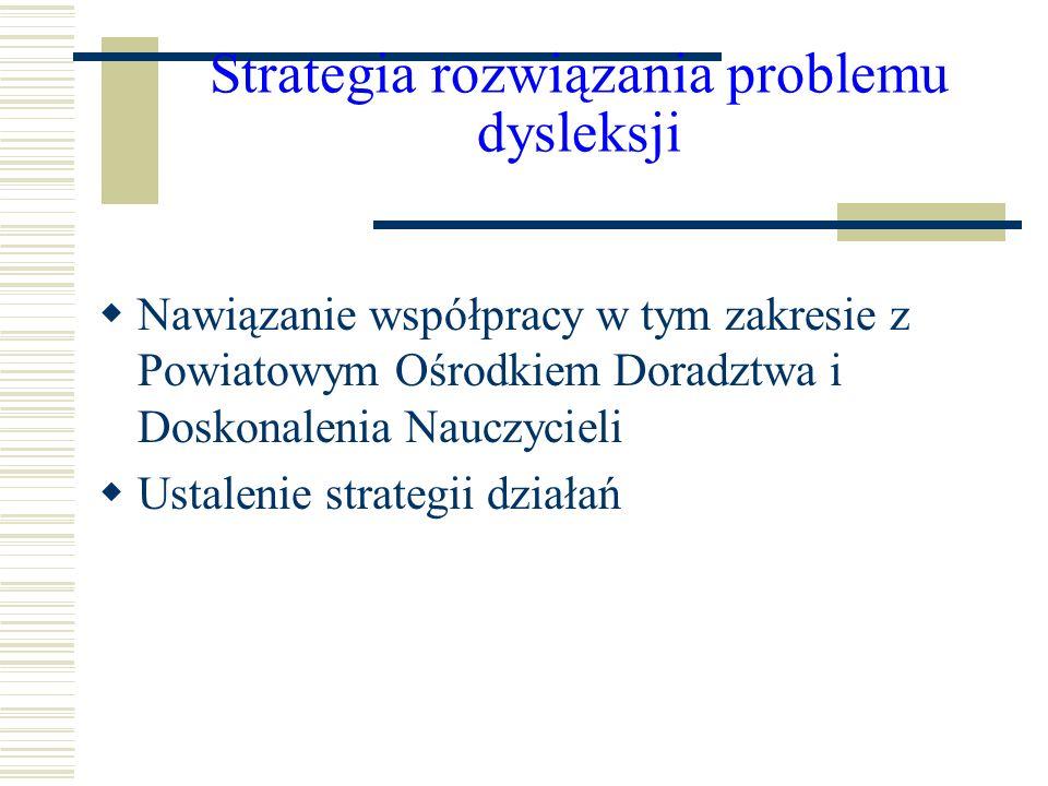 Strategia rozwiązania problemu dysleksji