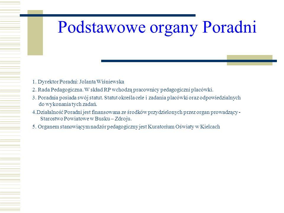Podstawowe organy Poradni