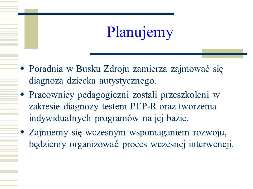 Planujemy Poradnia w Busku Zdroju zamierza zajmować się diagnozą dziecka autystycznego.