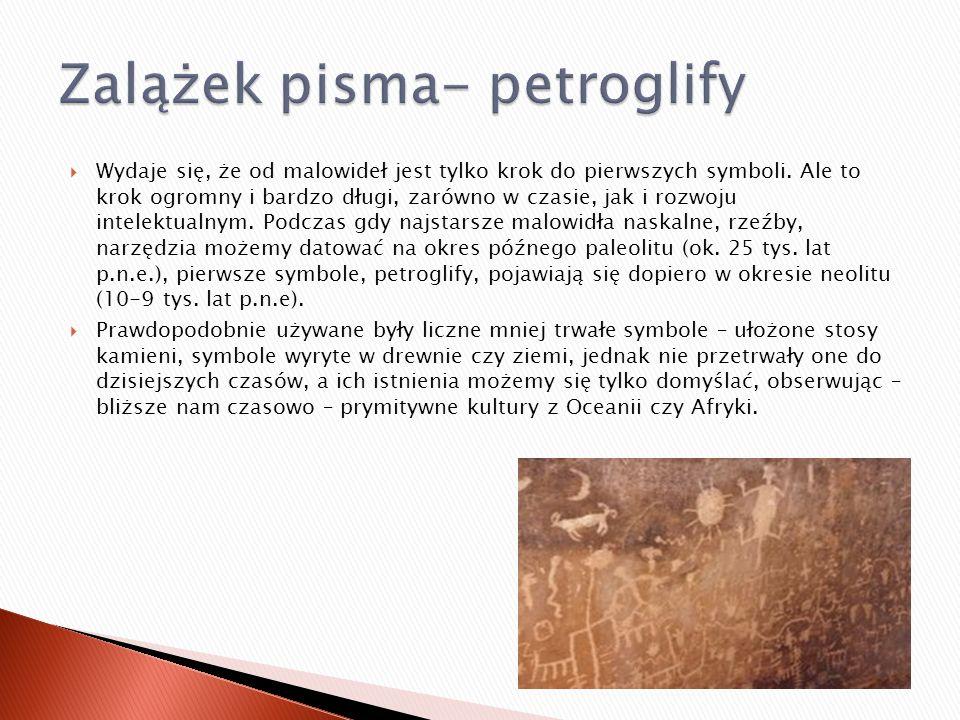 Zalążek pisma- petroglify