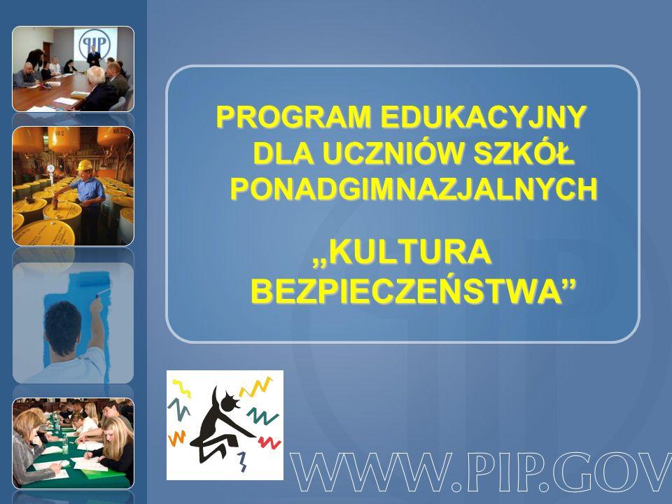 """WWW.PIP.GOV.PL """"KULTURA BEZPIECZEŃSTWA"""