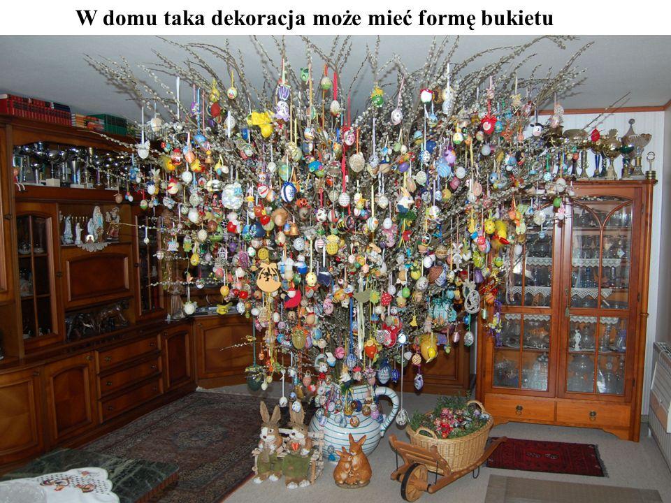 W domu taka dekoracja może mieć formę bukietu