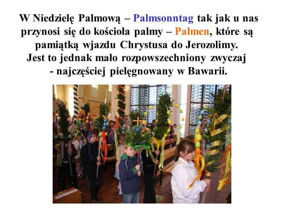 W Niedzielę Palmową – Palmsonntag tak jak u nas