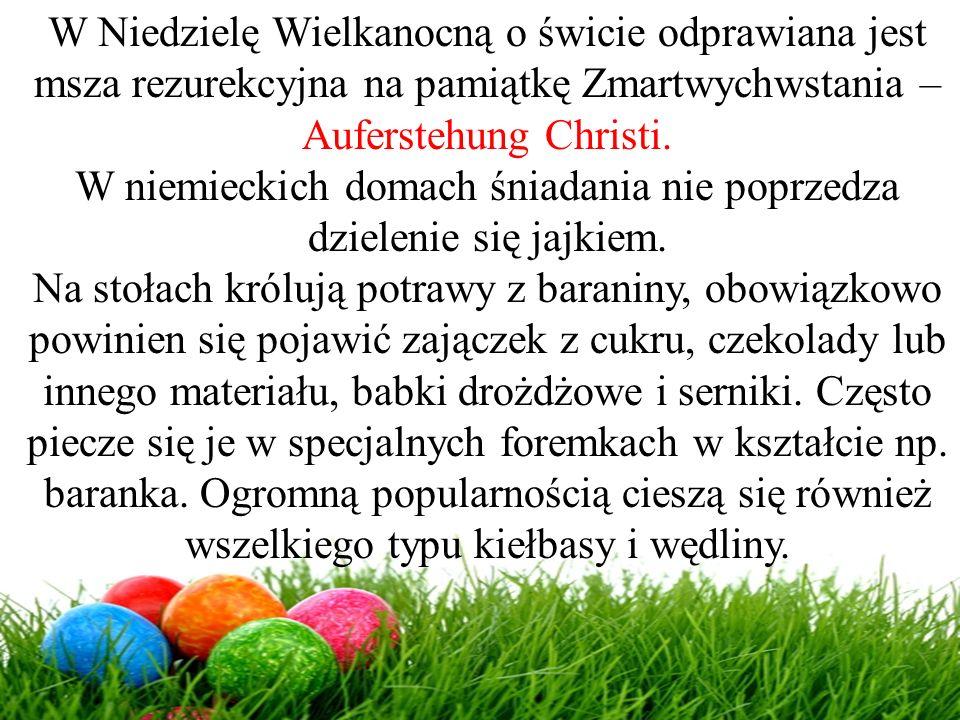 W Niedzielę Wielkanocną o świcie odprawiana jest