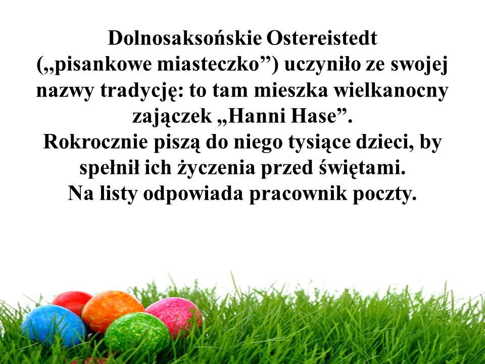 Dolnosaksońskie Ostereistedt Na listy odpowiada pracownik poczty.