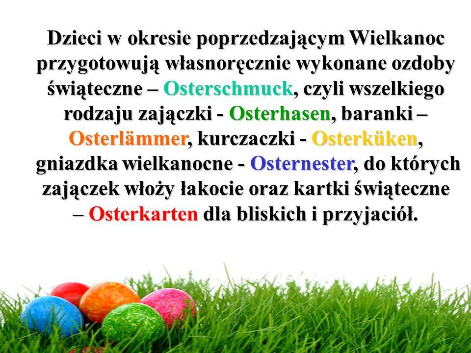 – Osterkarten dla bliskich i przyjaciół.