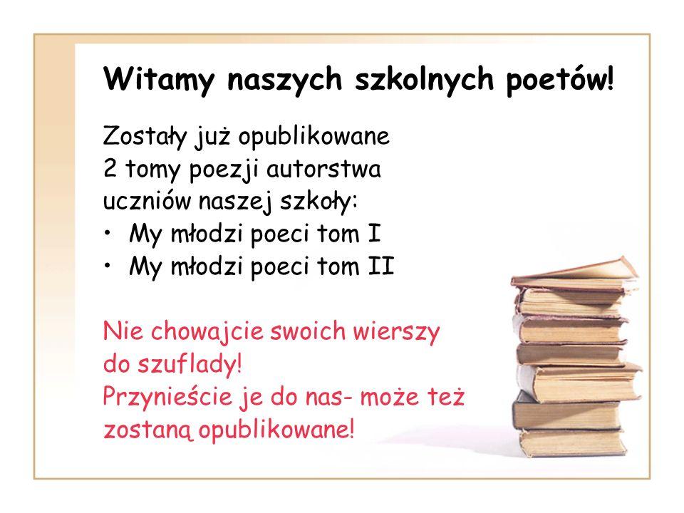 Witamy naszych szkolnych poetów!