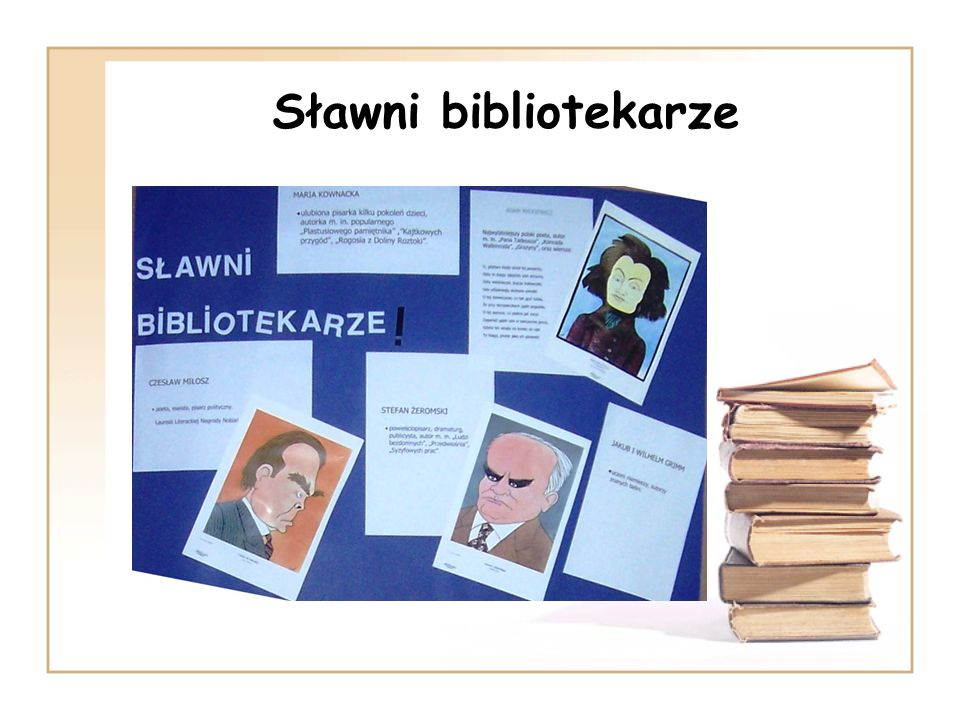 Sławni bibliotekarze