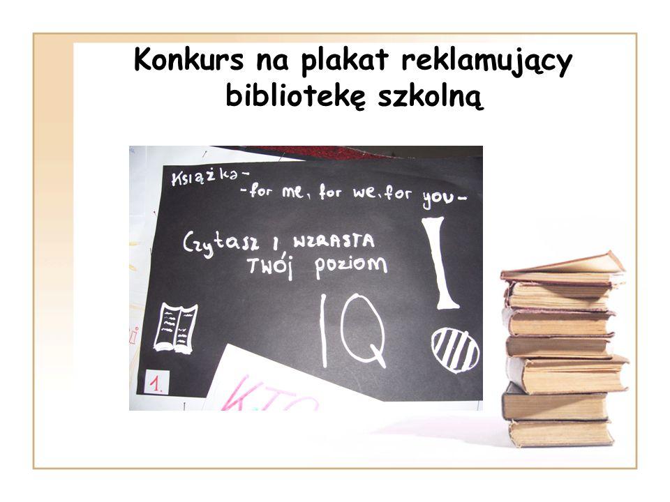 Konkurs na plakat reklamujący bibliotekę szkolną