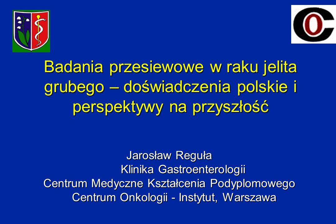 Badania przesiewowe w raku jelita grubego – doświadczenia polskie i perspektywy na przyszłość