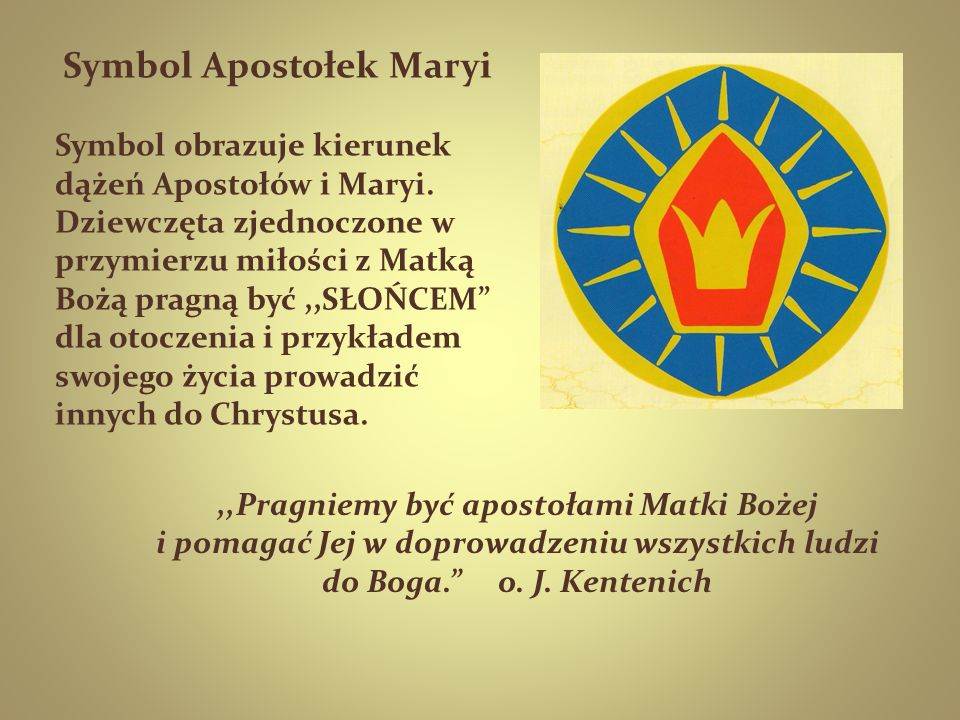 Symbol Apostołek Maryi