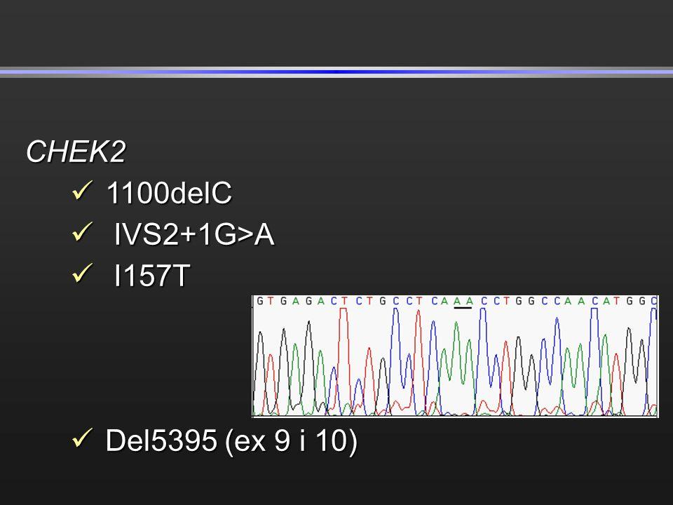 CHEK2 1100delC IVS2+1G>A I157T Del5395 (ex 9 i 10)