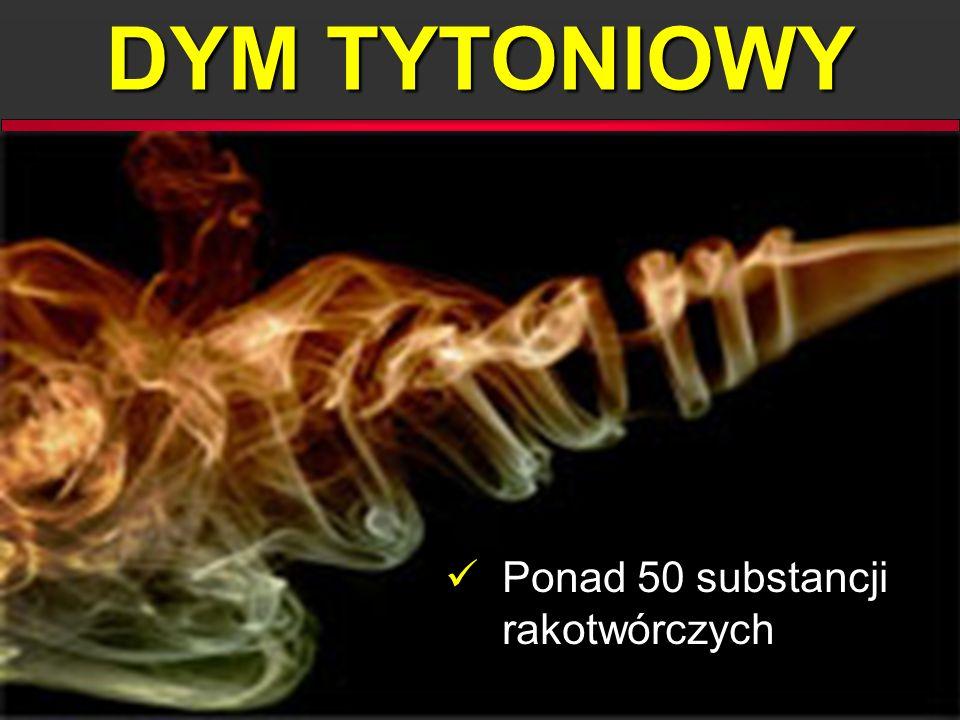 DYM TYTONIOWY Ponad 50 substancji rakotwórczych