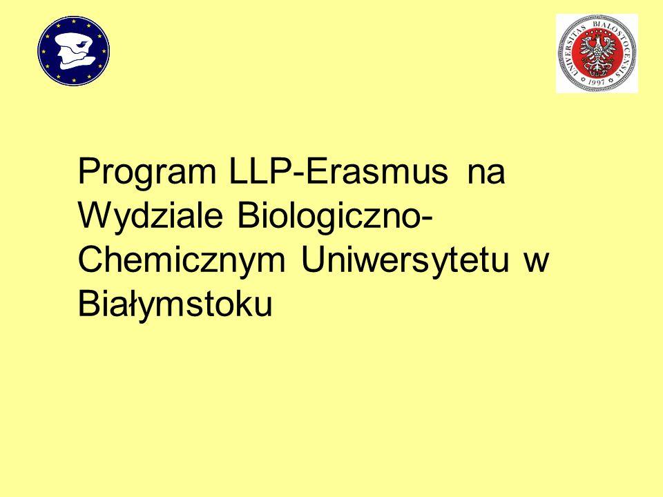 Program LLP-Erasmus na Wydziale Biologiczno-Chemicznym Uniwersytetu w Białymstoku