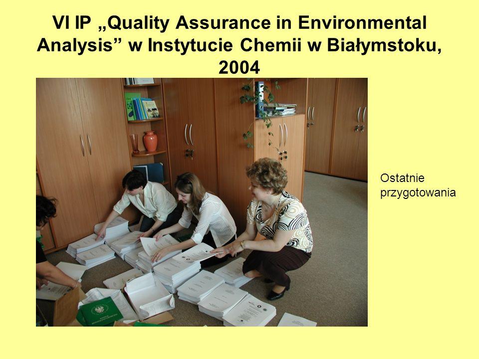 """VI IP """"Quality Assurance in Environmental Analysis w Instytucie Chemii w Białymstoku, 2004"""