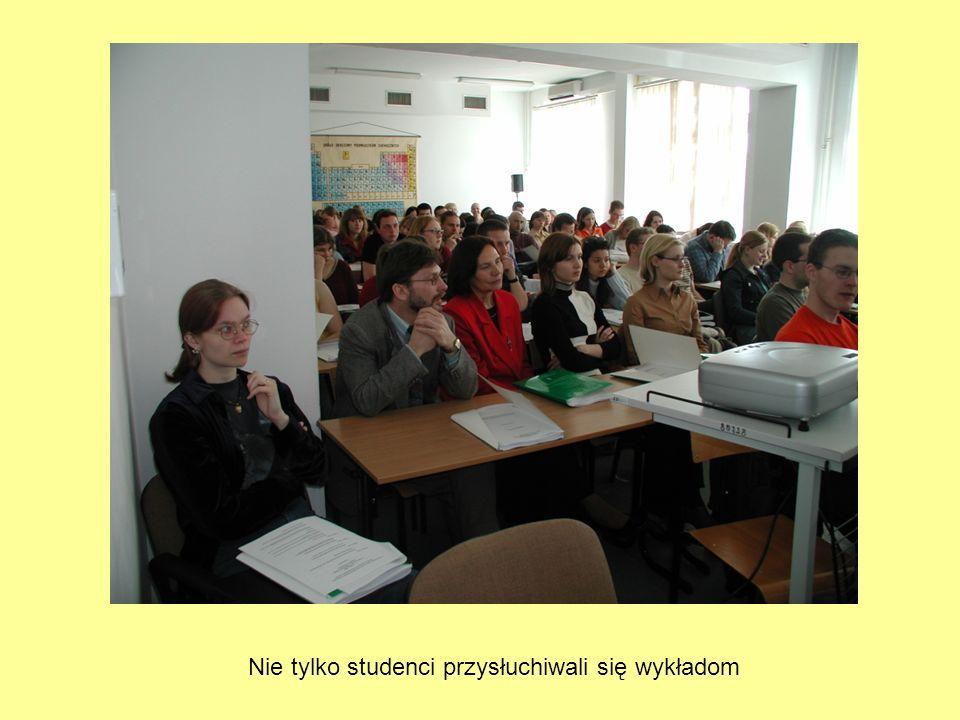 Nie tylko studenci przysłuchiwali się wykładom