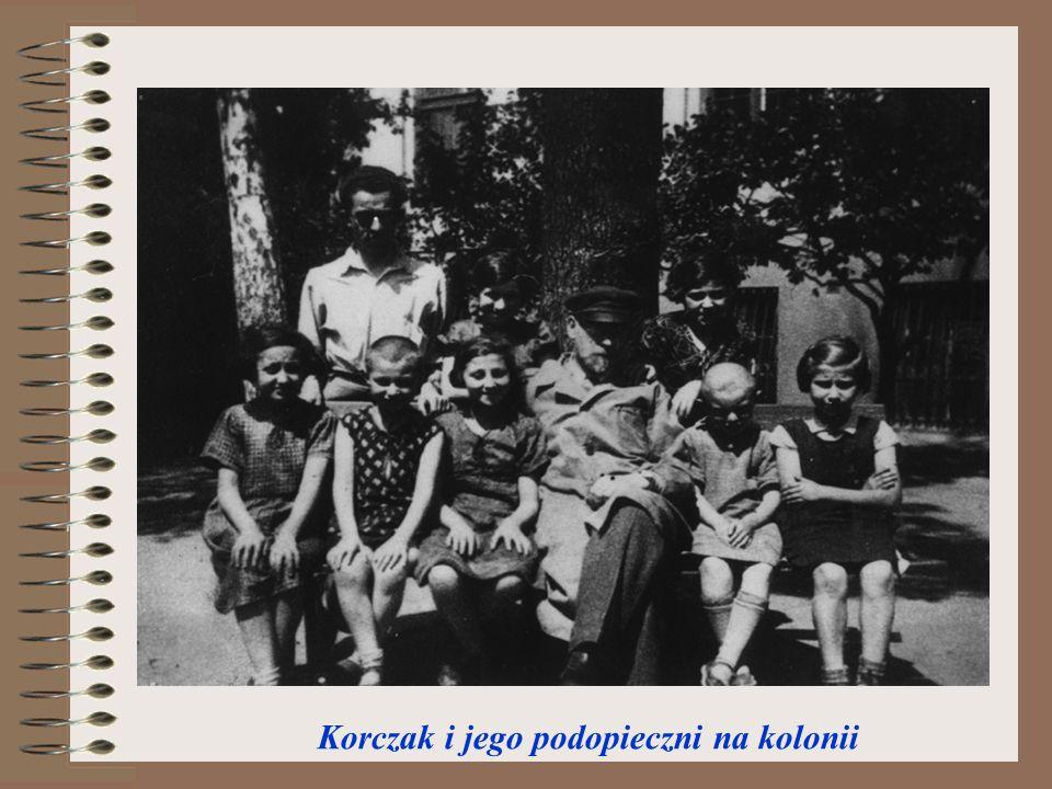 Korczak i jego podopieczni na kolonii