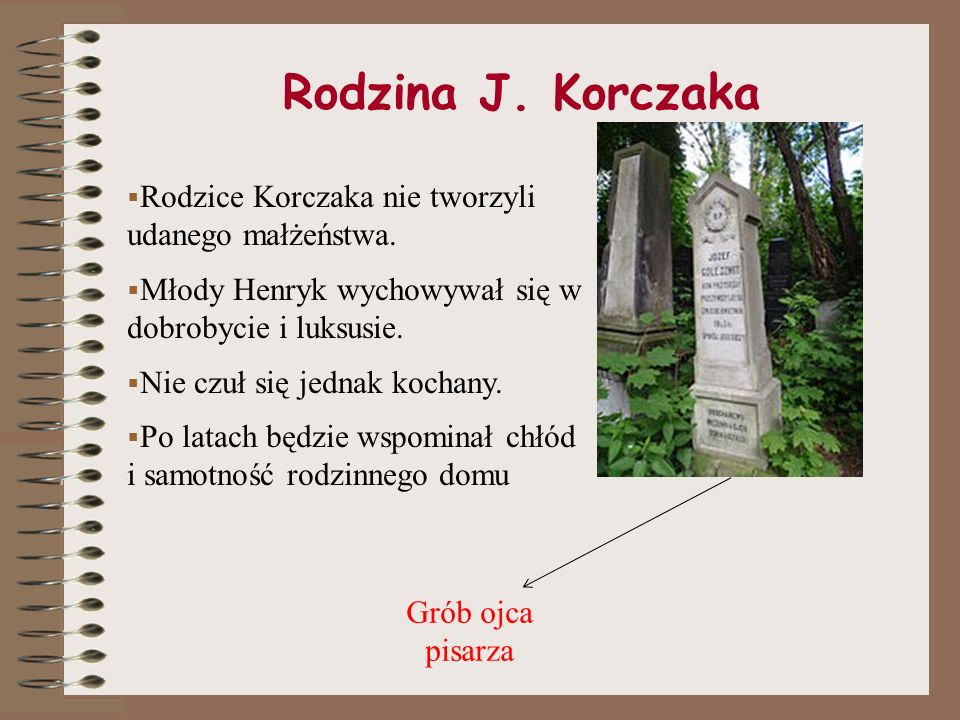 Rodzina J. Korczaka Rodzice Korczaka nie tworzyli udanego małżeństwa.