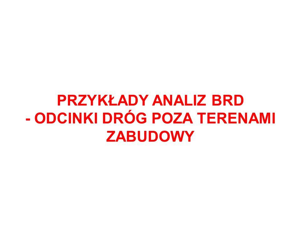 - ODCINKI DRÓG POZA TERENAMI ZABUDOWY