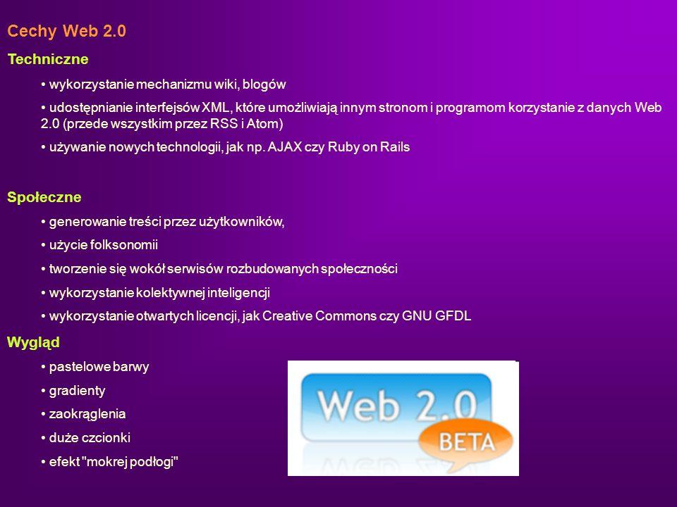 Cechy Web 2.0 Techniczne Społeczne Wygląd