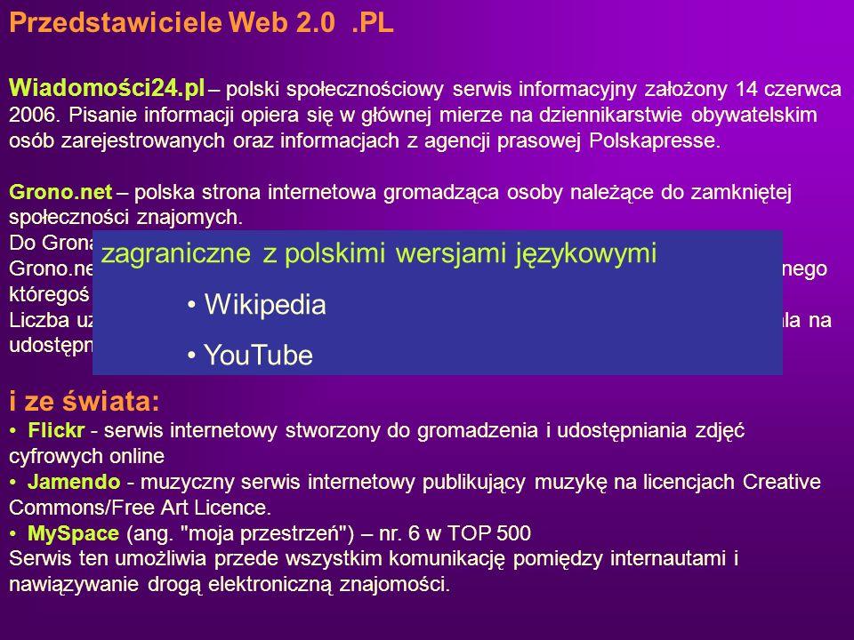Przedstawiciele Web 2.0 .PL