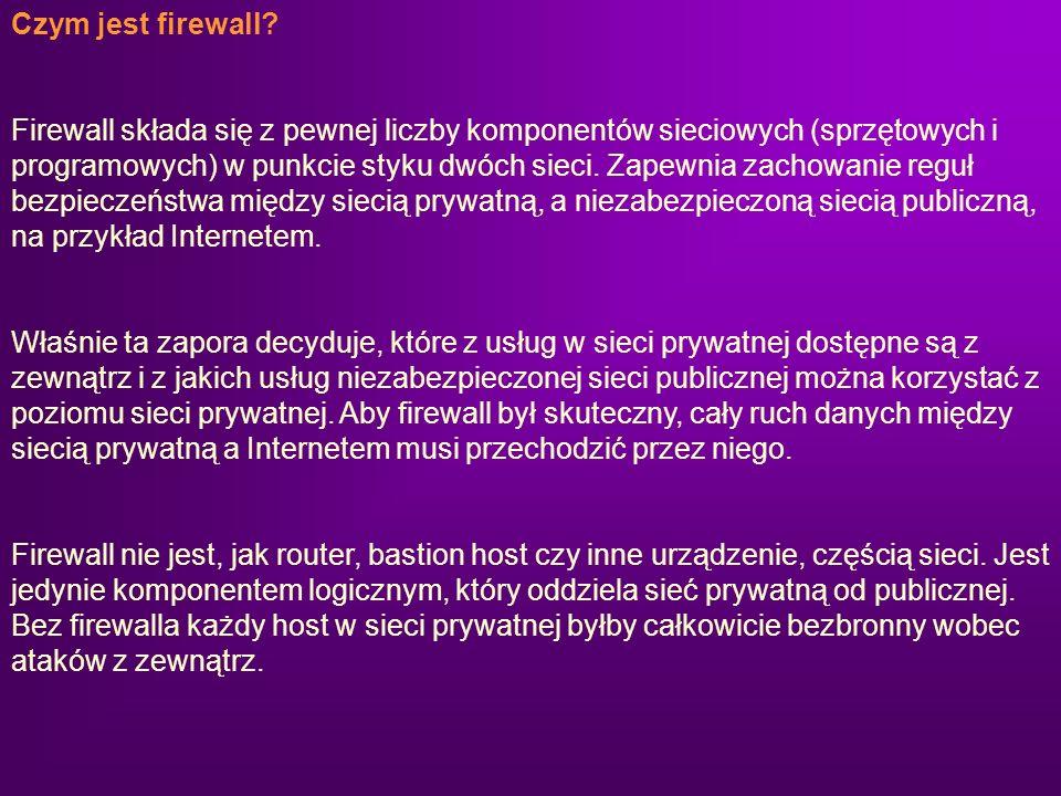 Czym jest firewall