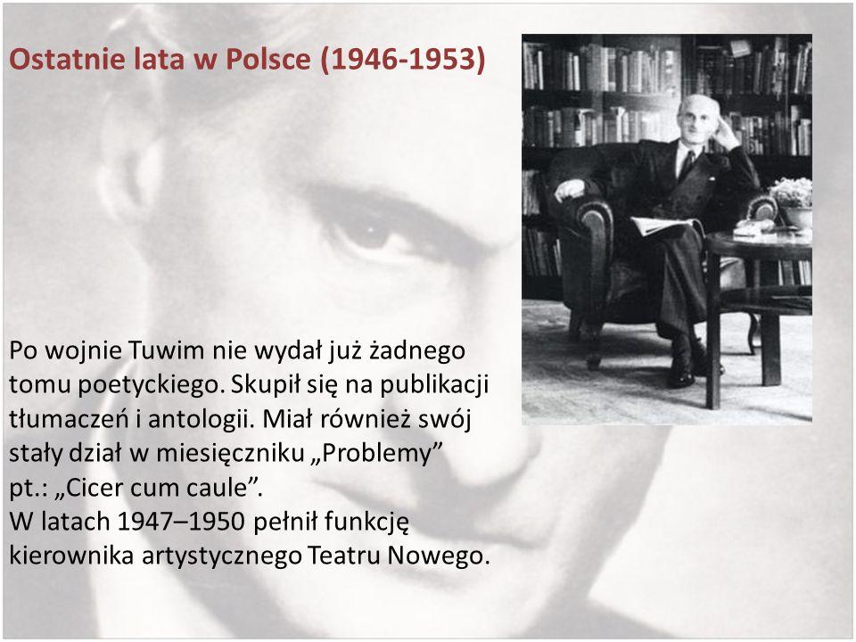Ostatnie lata w Polsce (1946-1953)