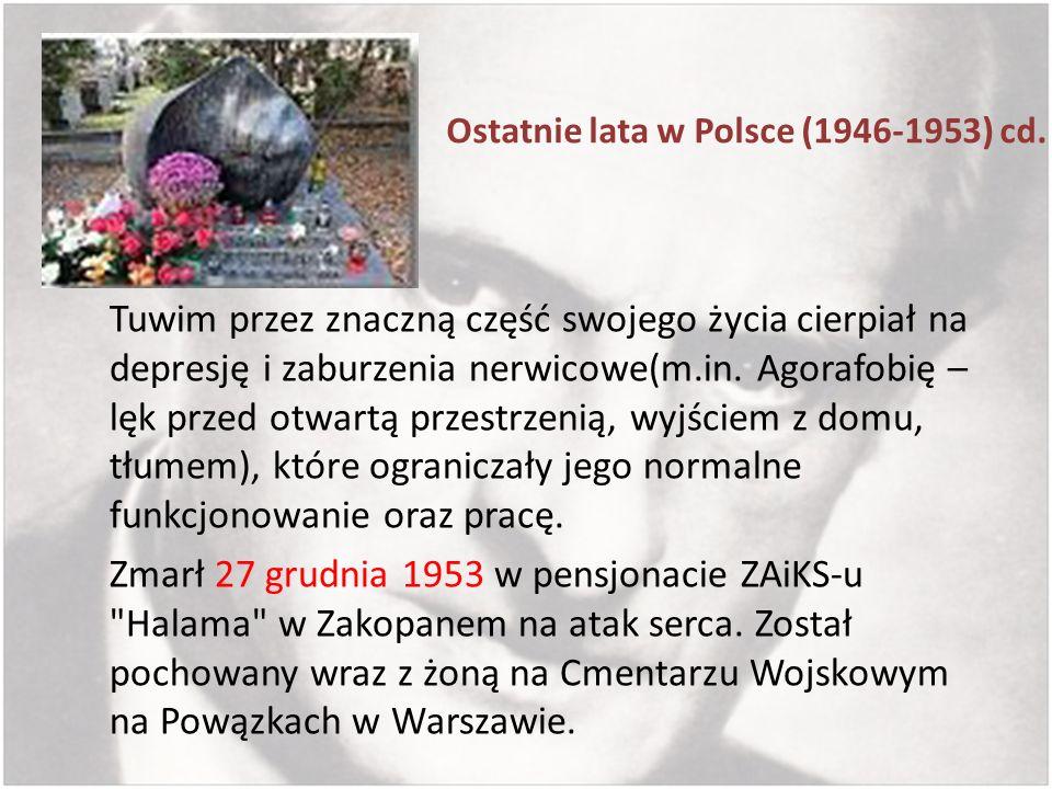 Ostatnie lata w Polsce (1946-1953) cd.