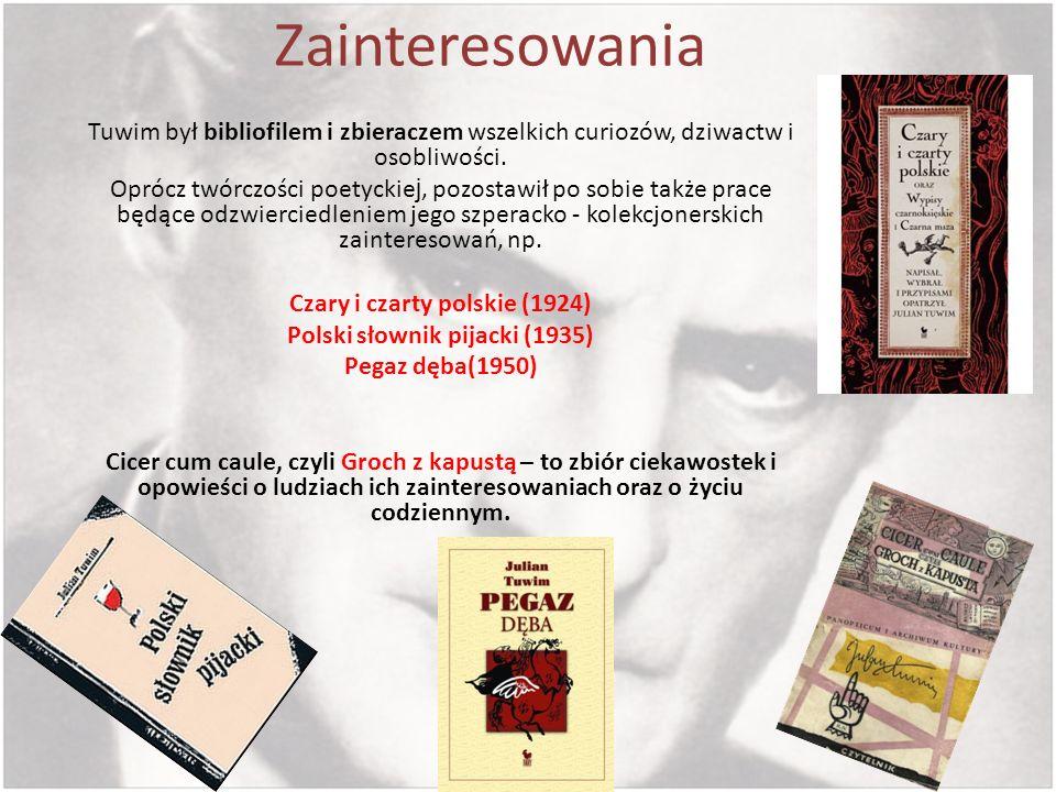 Czary i czarty polskie (1924) Polski słownik pijacki (1935)