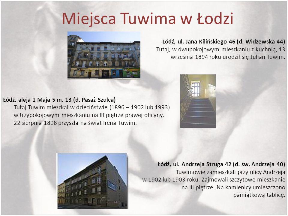Miejsca Tuwima w Łodzi