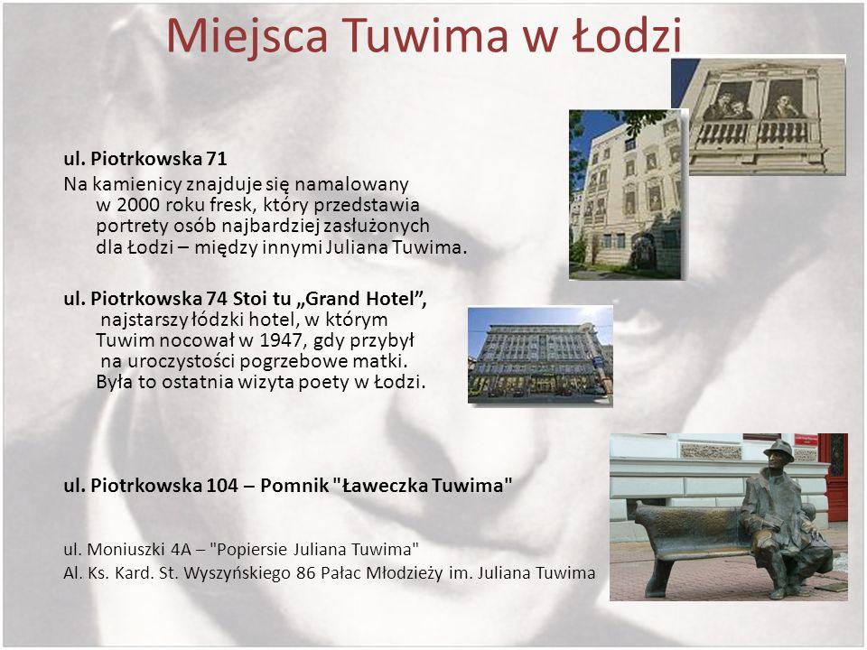 Miejsca Tuwima w Łodzi ul. Piotrkowska 71