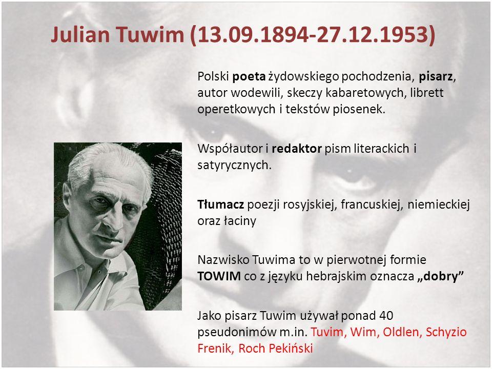 Julian Tuwim (13.09.1894-27.12.1953)