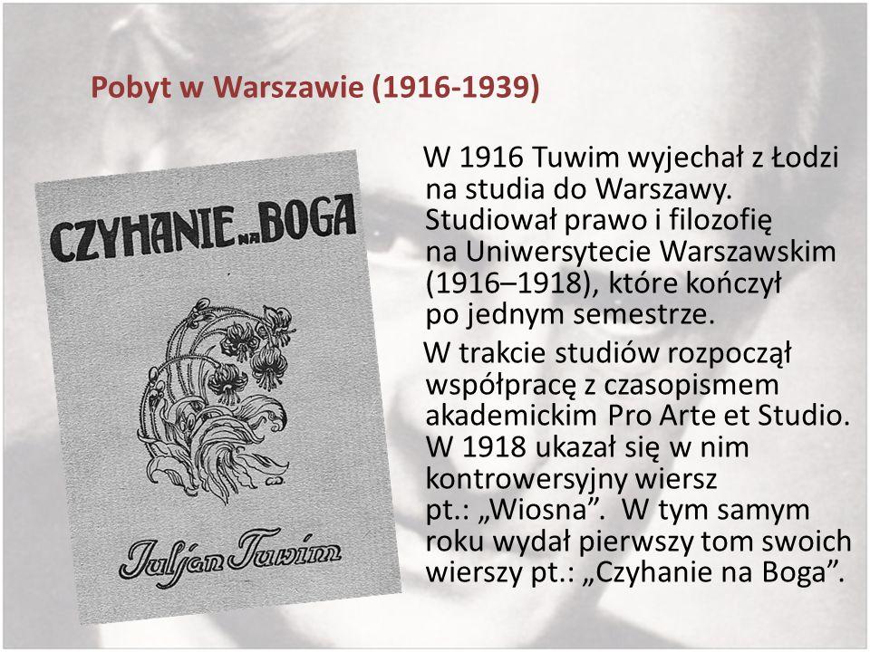 Pobyt w Warszawie (1916-1939)