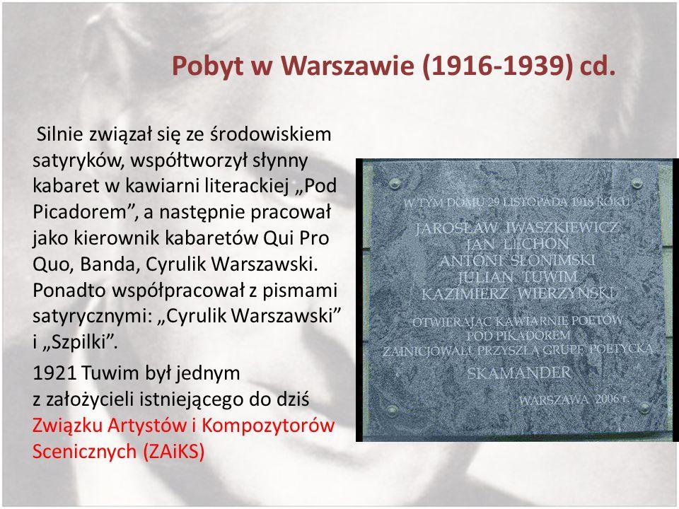 Pobyt w Warszawie (1916-1939) cd.