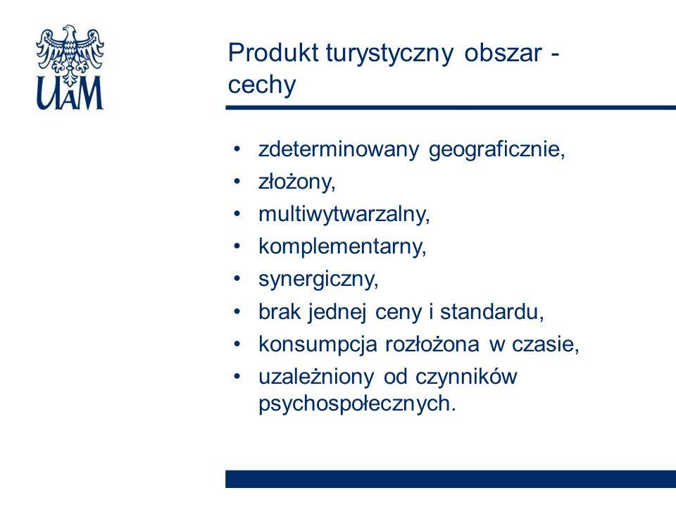 Produkt turystyczny obszar - cechy