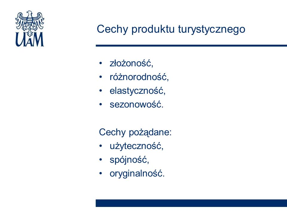 Cechy produktu turystycznego