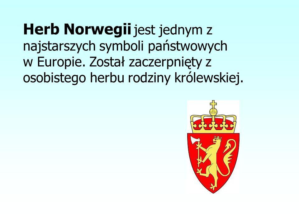 Herb Norwegii jest jednym z najstarszych symboli państwowych w Europie