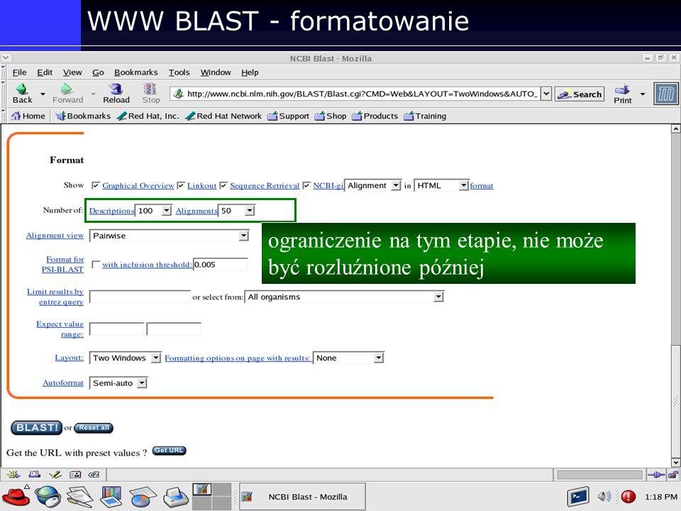 WWW BLAST - formatowanie