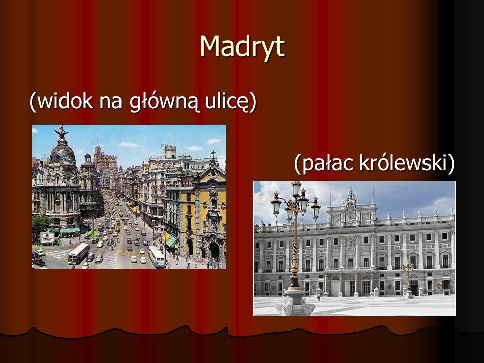 Madryt (widok na główną ulicę) (pałac królewski)