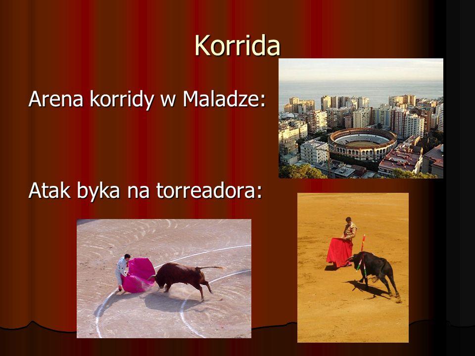 Korrida Arena korridy w Maladze: Atak byka na torreadora: