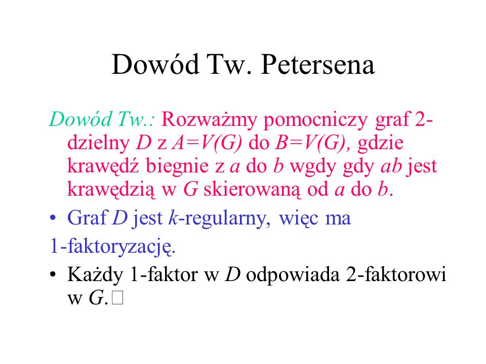 Dowód Tw. Petersena