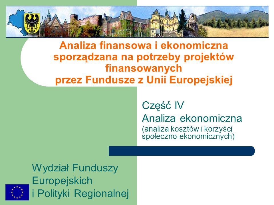 Analiza finansowa i ekonomiczna sporządzana na potrzeby projektów finansowanych przez Fundusze z Unii Europejskiej