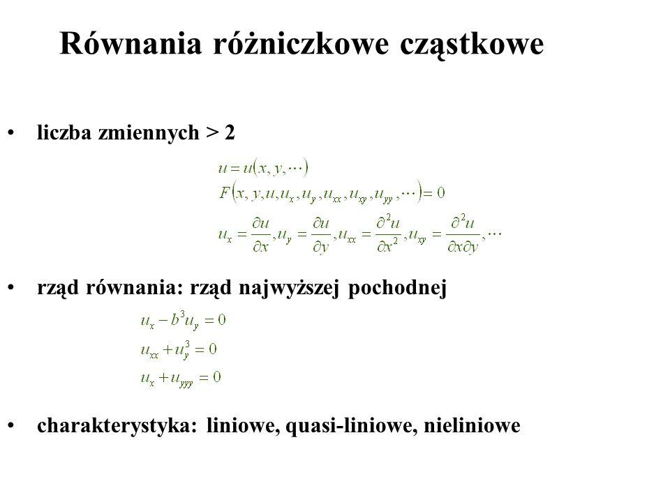 Równania różniczkowe cząstkowe