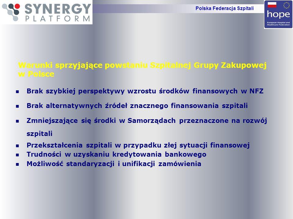 Warunki sprzyjające powstaniu Szpitalnej Grupy Zakupowej w Polsce