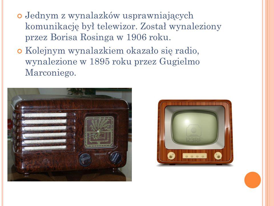 Jednym z wynalazków usprawniających komunikację był telewizor