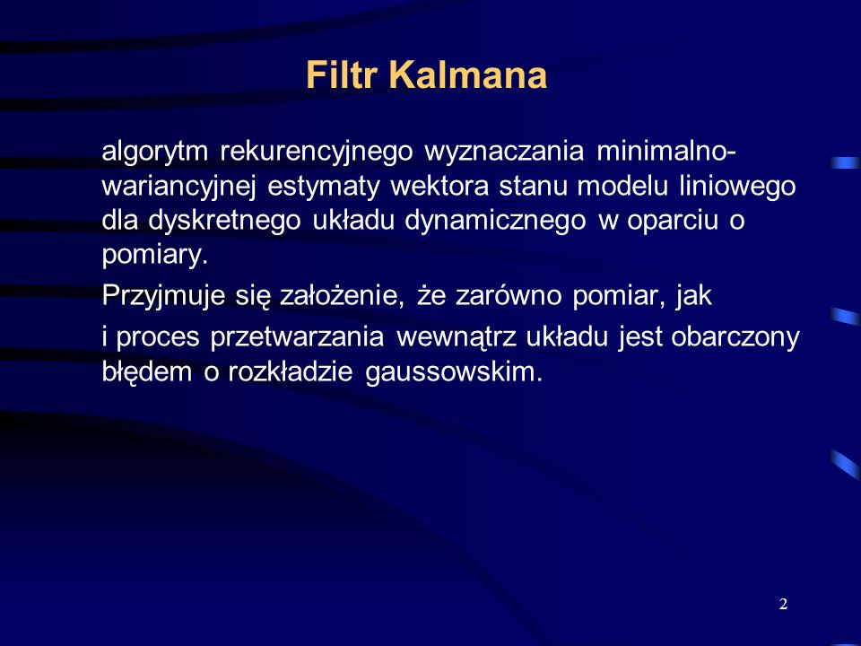 Filtr Kalmana