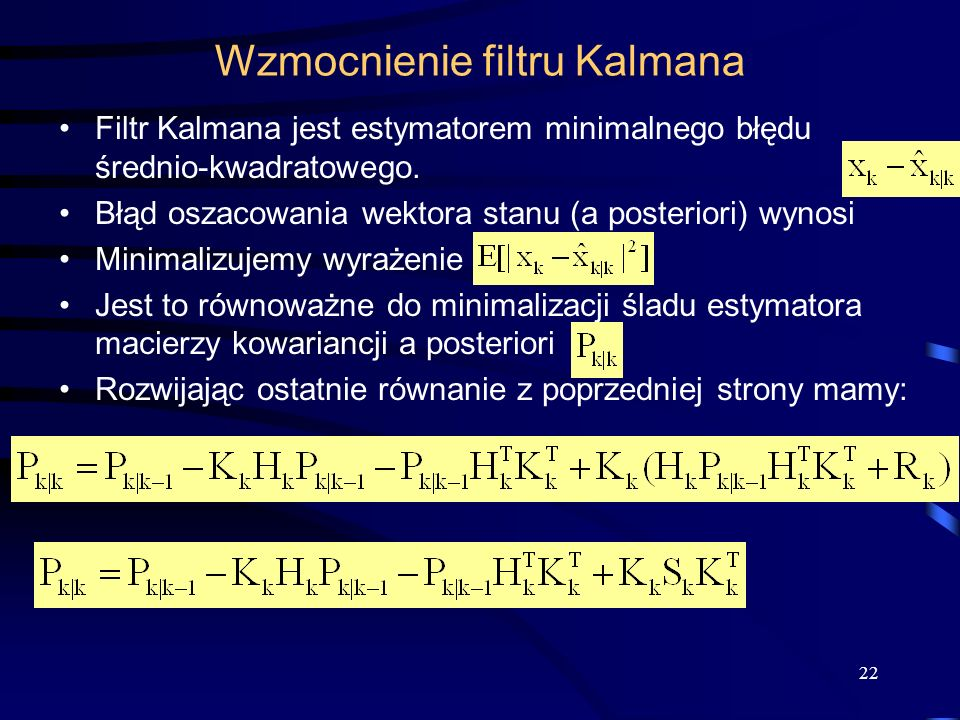 Wzmocnienie filtru Kalmana