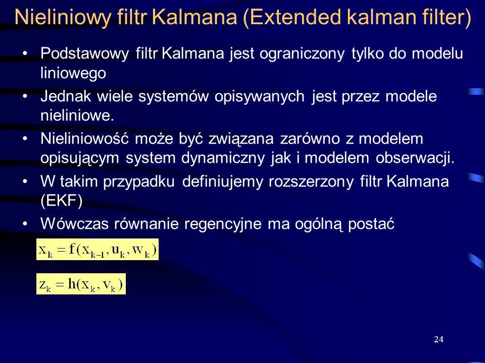 Nieliniowy filtr Kalmana (Extended kalman filter)