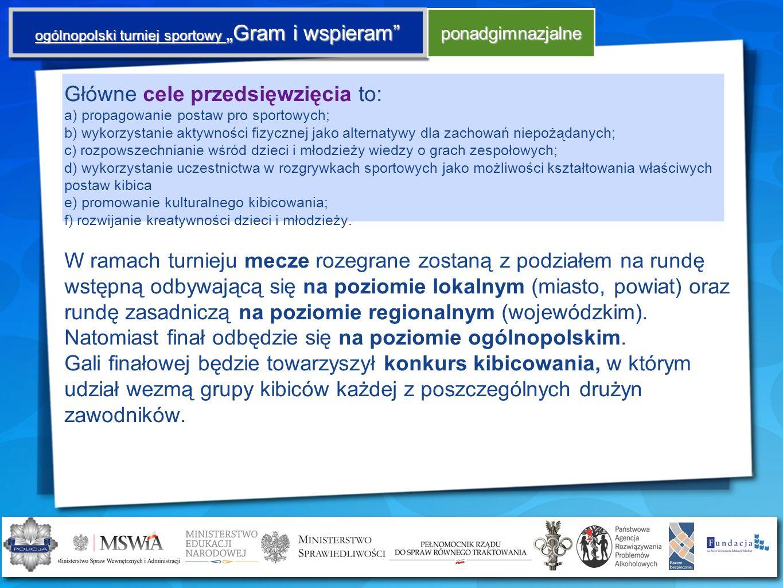 """ogólnopolski turniej sportowy """"Gram i wspieram"""
